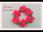 Video: FUN  FUN LOOM flower bracelet 簡� フォーク��花�ブレスレット ファンルーム