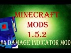 |Minecraft Mods 1.5.2| Damage Indicator Review y Como Instalarlo Descragarlo