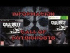 V�deo Call of Duty: Black Ops 2: Informaci�n Call of Duty: Ghosts
