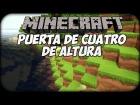 Como hacer una puerta automatica en Minecraft