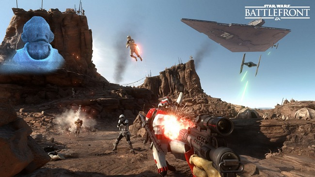 The beta of Star Wars: Battlefront