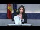 Video: Rueda de prensa de Irene Montero tras la junta de portavoces. 21 de Febrero