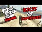 Video: GTA V online bicis vs camiones!! Fue fácil ganar :)
