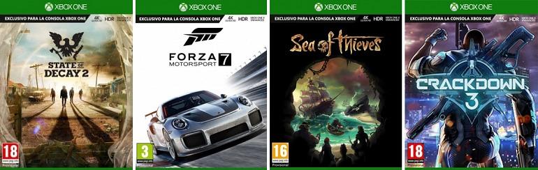 Microsoft presenta cómo serán las cajas de los juegos de Xbox One X