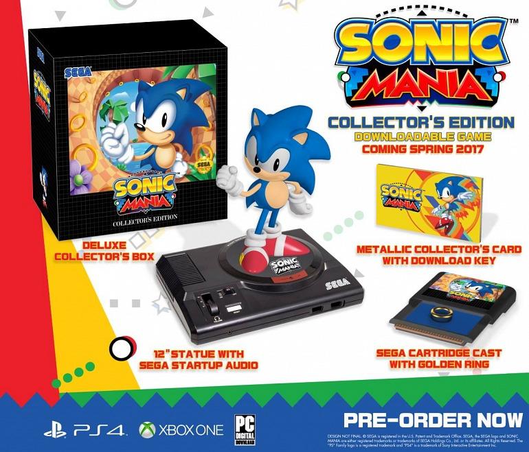 La edición coleccionista de Sonic Mania también llegará a Europa