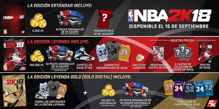 NBA 2K18 se estrenará el próximo 15 de septiembre