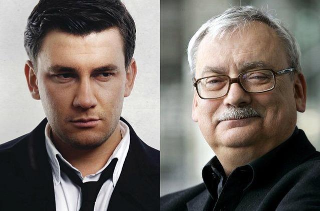 Dmitry Glukhovsky / Creador saga Metro (izquierda) - Andrzej Sapkowski / Creador saga The Witcher (derecha)